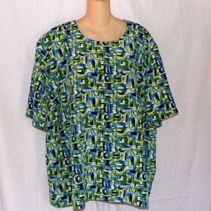 Maggie Barnes Short Sleeved Blouse Size 5X EUC